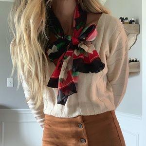 VTG Vintage holiday poinsettia scarf 🧣